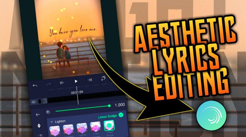 Aesthetic lyrics edit Application