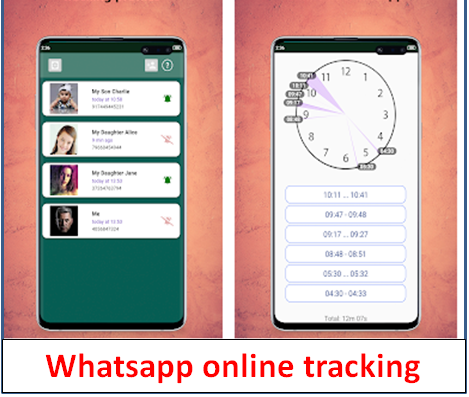 WHATS APP ONLINE TIME TRACKER