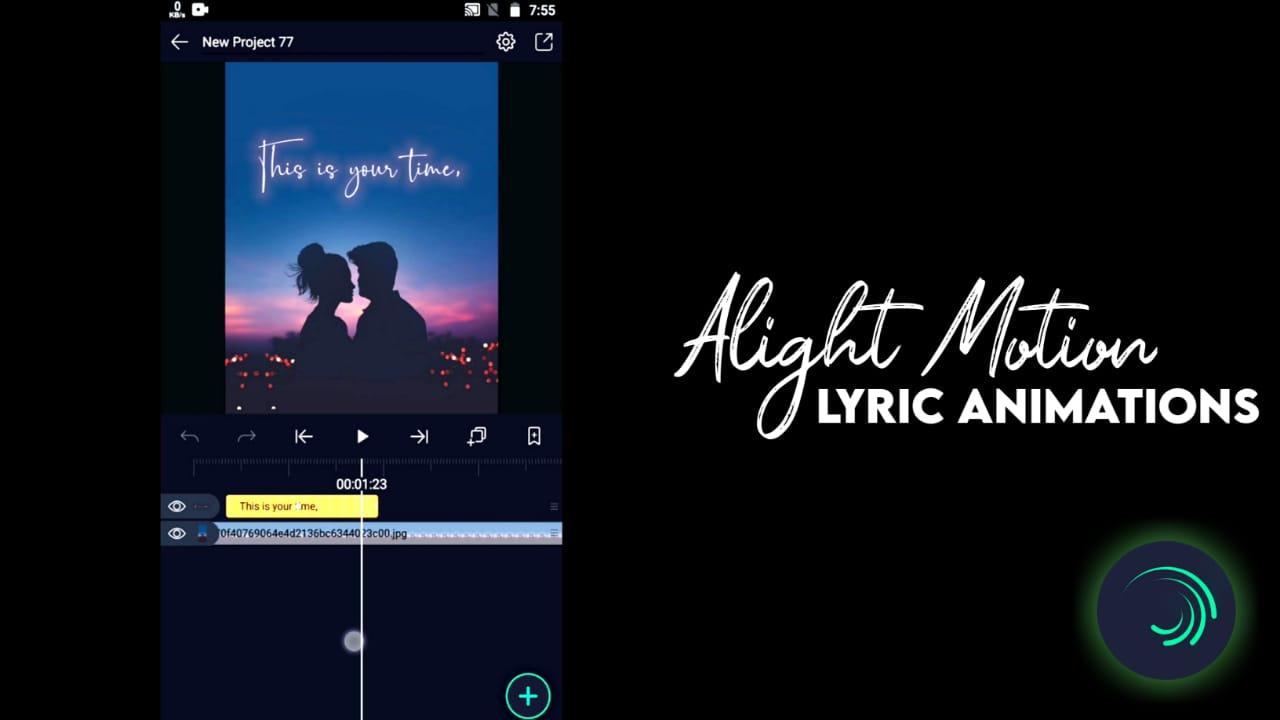 Alight motion lyric edit · searchjobz